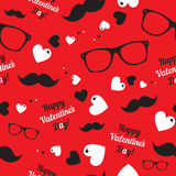 Hipster symbols. Valentine's Day background. Royalty Free Stock Images