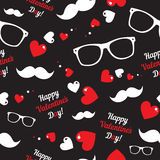 Hipster symbols. Valentine's Day background. Stock Images