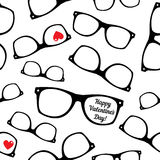 Hipster symbols. Valentine's Day background. Royalty Free Stock Image
