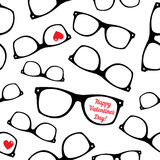 Hipster symbols. Valentine's Day background. Royalty Free Stock Photo