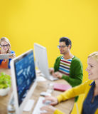 Hipster Technology Teamwork Collboration Friendship Concept Stock Images
