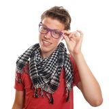 Hipster teenage boy Royalty Free Stock Images