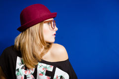 Hipster teenager girl Stock Photography