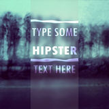 Hipster text vector illustration Royalty Free Stock Photo
