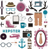 Hipster thematic elements. Royalty Free Stock Photography