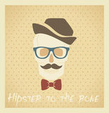 Hipster to the bone Stock Photography