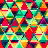 Hipster triangle seamless pattern with grunge effect Stock Image