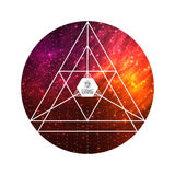 Hipster triangular colorful cosmic background Royalty Free Stock Photo