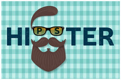 Hipster typography design. Hipster style hair, beards and mustache. For greeting card, poster, flyer or banner. Vector illustratio Royalty Free Stock Photo