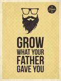 Hipster uitstekende kijkt in citaten, kweekt wat uw vader y gaf Royalty-vrije Stock Afbeeldingen