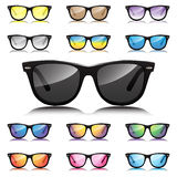 Hipster various sunglasses set. Hipster various sunglasses  set Royalty Free Stock Image