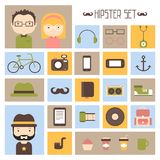 Hipster vector colorful style elements and Stock Images