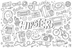 Hipster vector elements Royalty Free Stock Photography