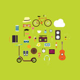 Hipster Vector Icon Set Stock Images
