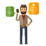 Hipster vector logo design template. mobile Royalty Free Stock Photos