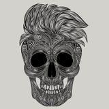 hipster Vector Menselijke schedel Royalty-vrije Stock Afbeelding