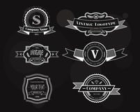 Hipster vector vintage logo elements set Stock Photos