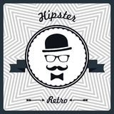 Hipster vintage background with man face silhouette Stock Image