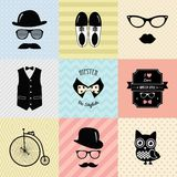 Hipster Vintage Cute Fashion Background Stock Image