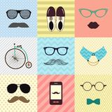 Hipster Vintage Cute Fashion Background stock illustration