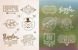 Hipster vintage emblem Stock Photo