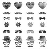 Hipster Vintage Icon with Aztec Pattern Background Royalty Free Stock Image