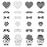 Hipster Vintage Icon with Pattern Background Royalty Free Stock Images
