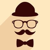 Hipster vintage illustration Royalty Free Stock Photos