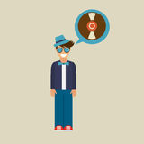 Hipster vynil disk vintage background icon Royalty Free Stock Photo