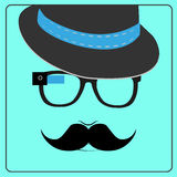 Hipster wearing smart glasses Stock Photo