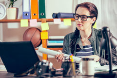 Hipster women in the office Stock Photography