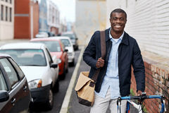 Hipster work commute Royalty Free Stock Image