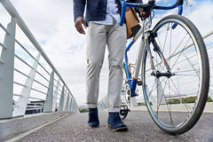 Hipster work commute Stock Photo