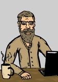Hipster at work Royalty Free Stock Images