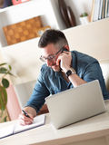 Hipster at work Royalty Free Stock Photo