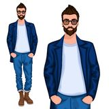 Hipster young guy Stock Photography