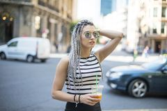 Hipster young woman. Royalty Free Stock Photo