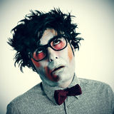 Hipster zombie. A hipster zombie wearing a bow tie and glasses Royalty Free Stock Images