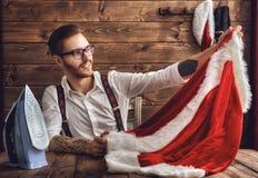 Hipsterbarn Santa Claus Royaltyfri Foto