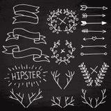 Hipsterbeståndsdeluppsättning vektor illustrationer