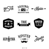 Hipsteretiketter stock illustrationer