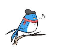 Hipsterfågel Arkivbilder
