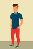 Hipstergrabb som bär stilfull frisyr vektor illustrationer