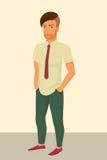 Hipstergrabb som bär stilfull frisyr stock illustrationer