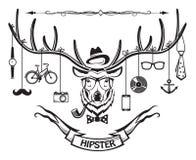 Hipsterhjortar Arkivfoton