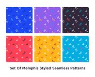 Hipstermanier Memphis Style Geometric Pattern Vector Illustratie
