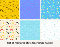Hipstermanier Memphis Style Geometric Pattern royalty-vrije illustratie