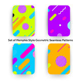 Hipstermanier Memphis Style Geometric Pattern stock illustratie