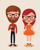 Hipsters ζεύγους Στοκ Εικόνες