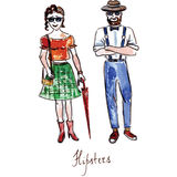 hipsters stock illustrationer